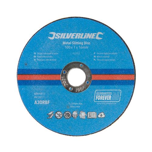 10 Pack Silverline 452053 Metal Cutting Discs 100mm x 1mm x 16mm